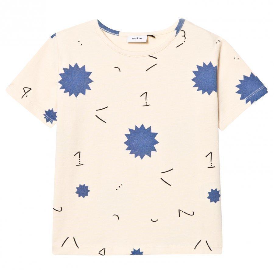 Wynken Ecru 1234 Star Print Tee T-Paita