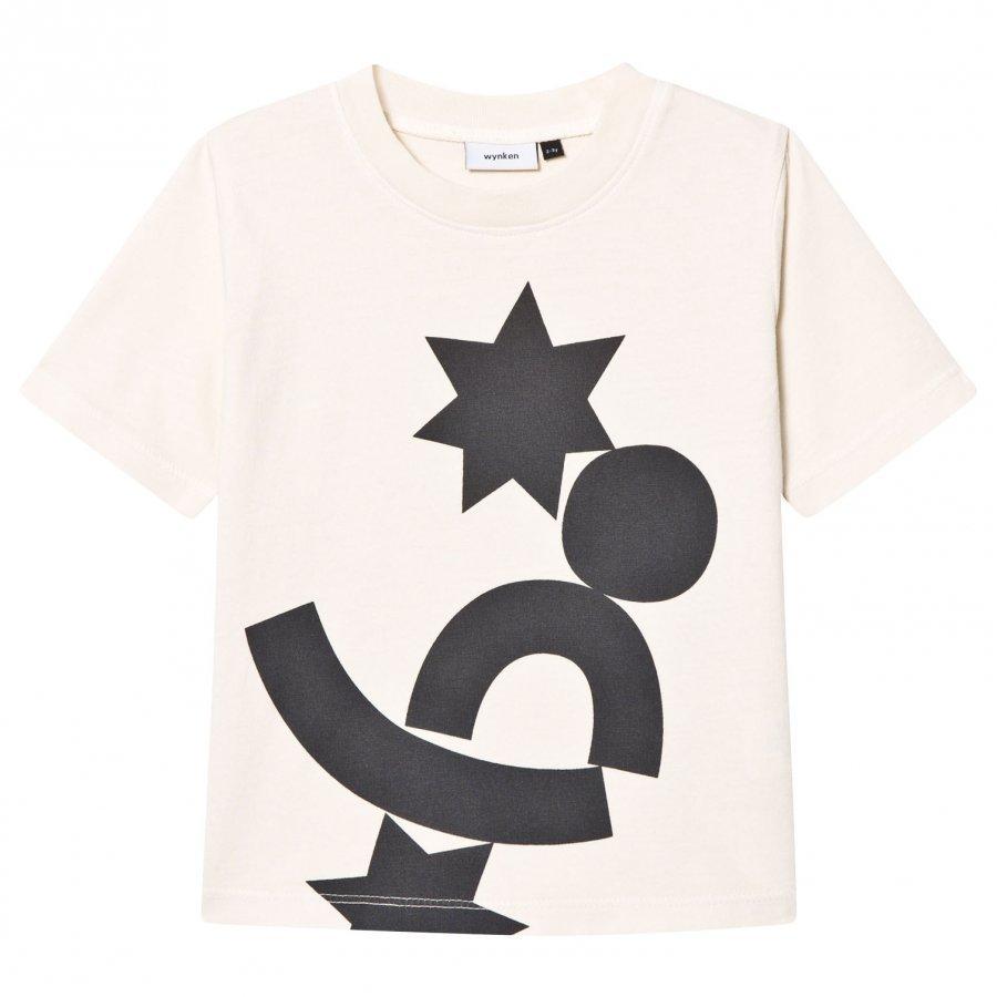 Wynken Ecru Black Shapes Print Tee T-Paita