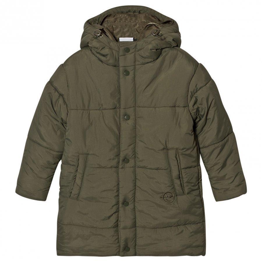 Wynken Fern Green Pillow Puffer Coat With Double Hood Toppatakki