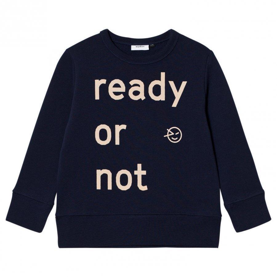 Wynken Ready Or Not Sweatshirt Navy Oloasun Paita