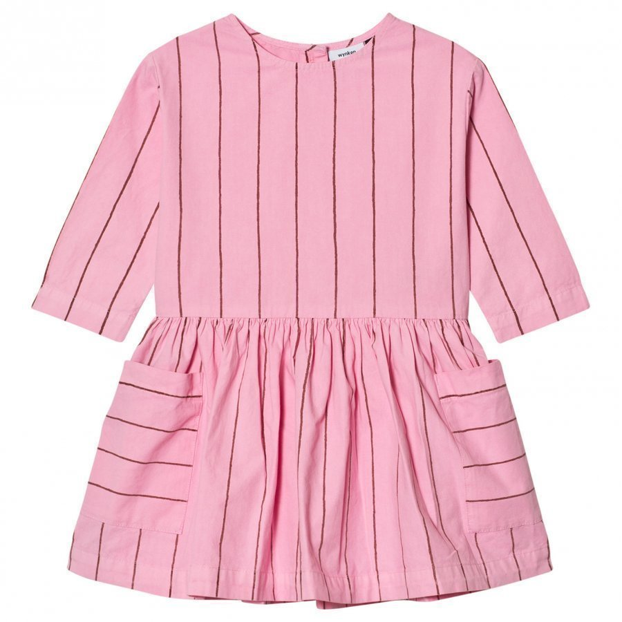 Wynken Stripe Gather Dress Pink Mekko