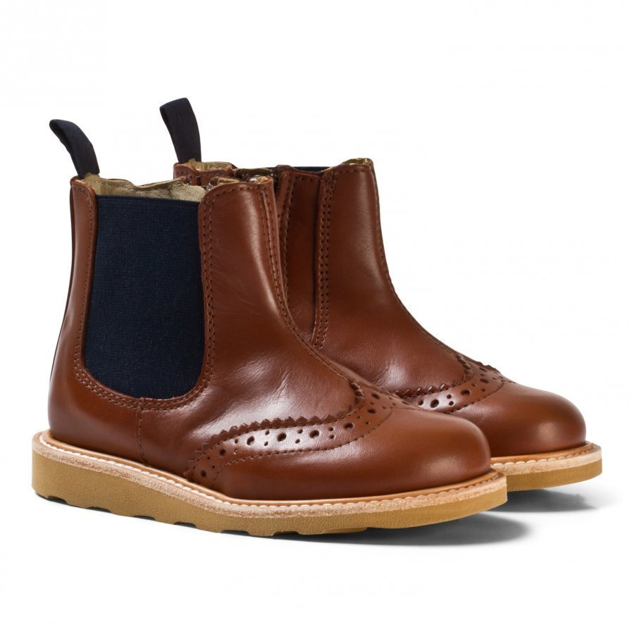 Young Soles Chestnut Leather Francis Boots Nilkkurit