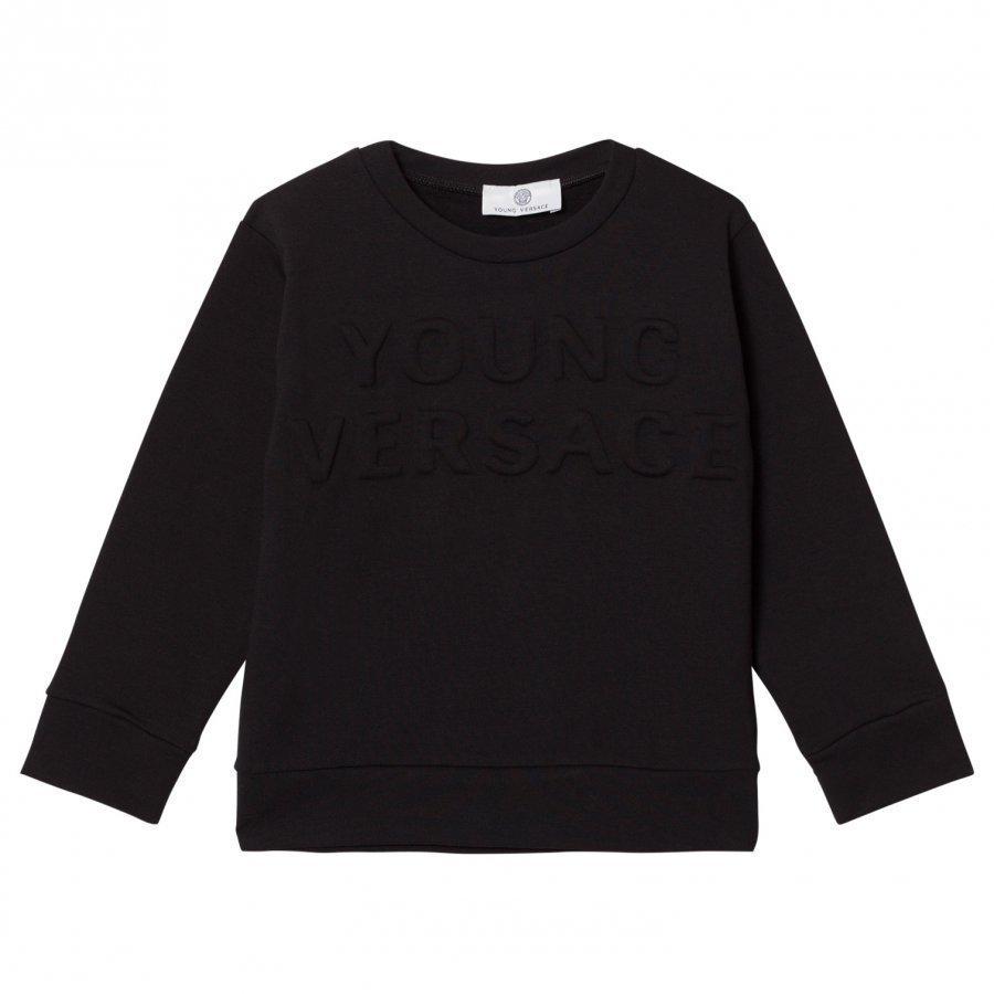 Young Versace Black Embossed Versace Sweatshirt Oloasun Paita