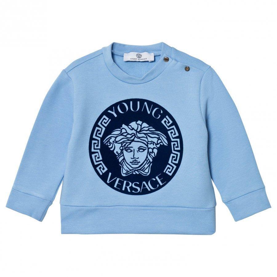 Young Versace Pale Blue Navy Medusa Sweatshirt Oloasun Paita