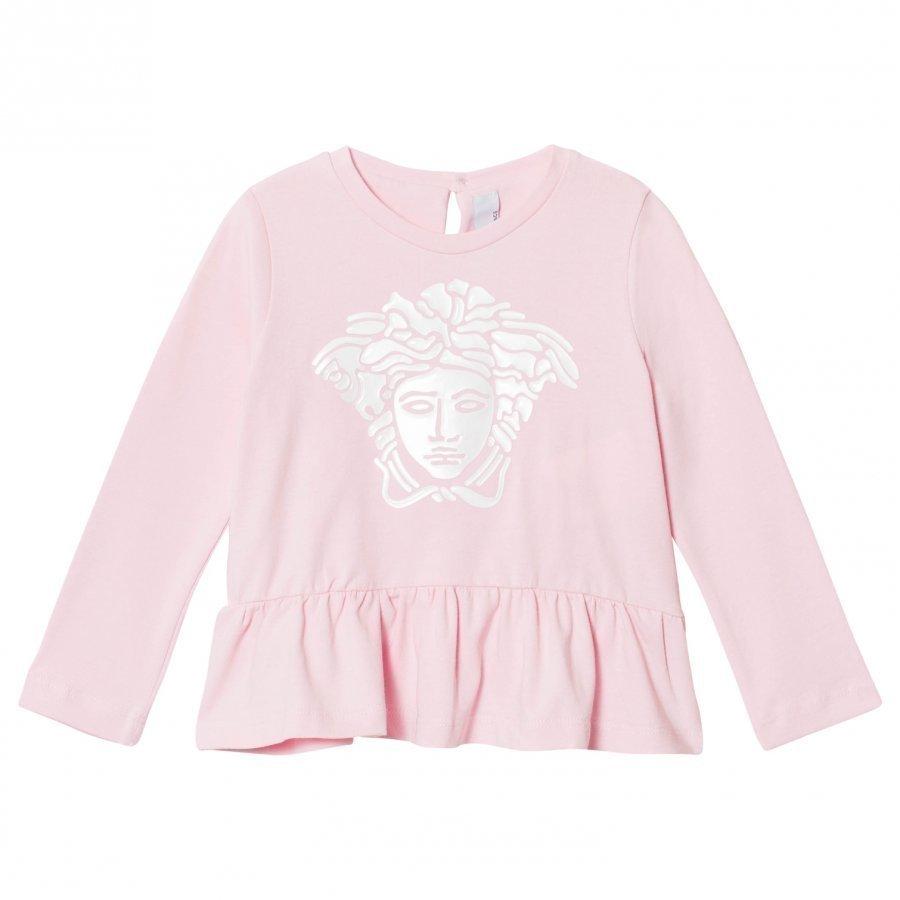 Young Versace Pink Gel Medusa Peplum Tee Pitkähihainen T-Paita