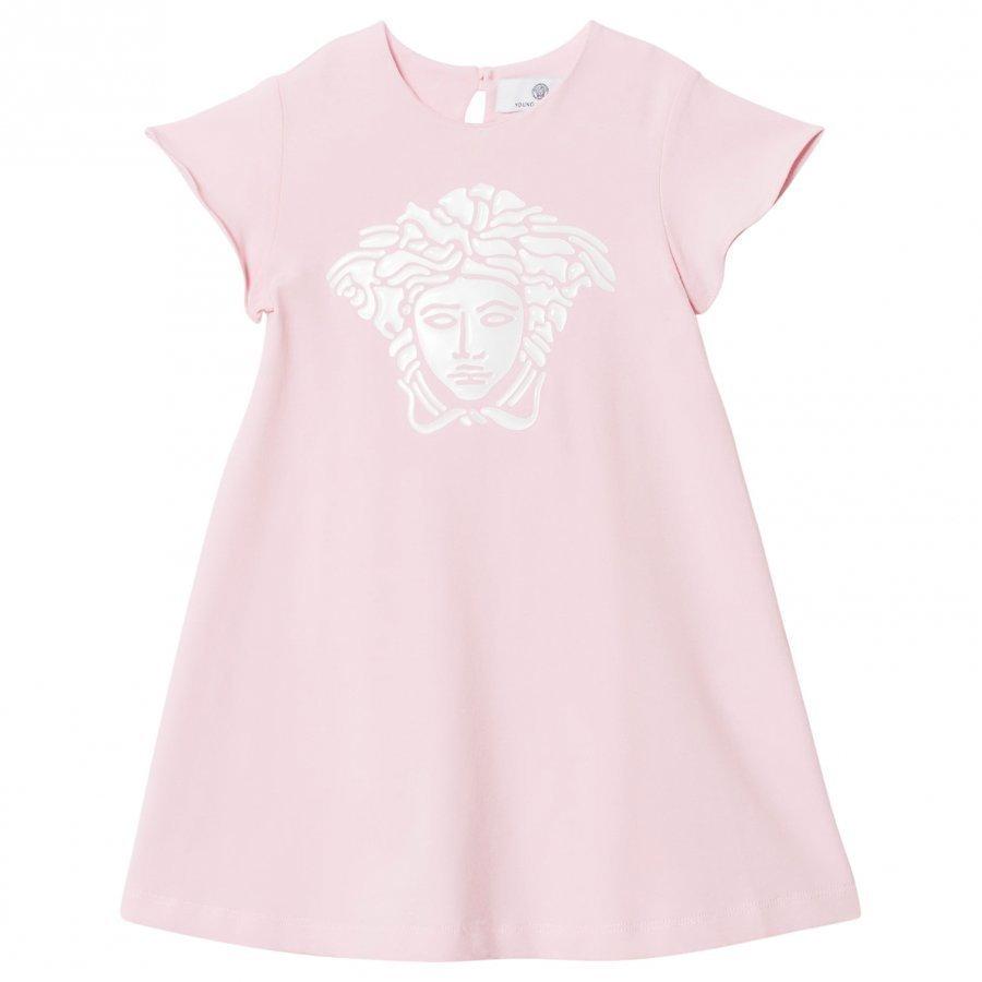 Young Versace Pink Gel Medusa Print Jersey Dress Mekko