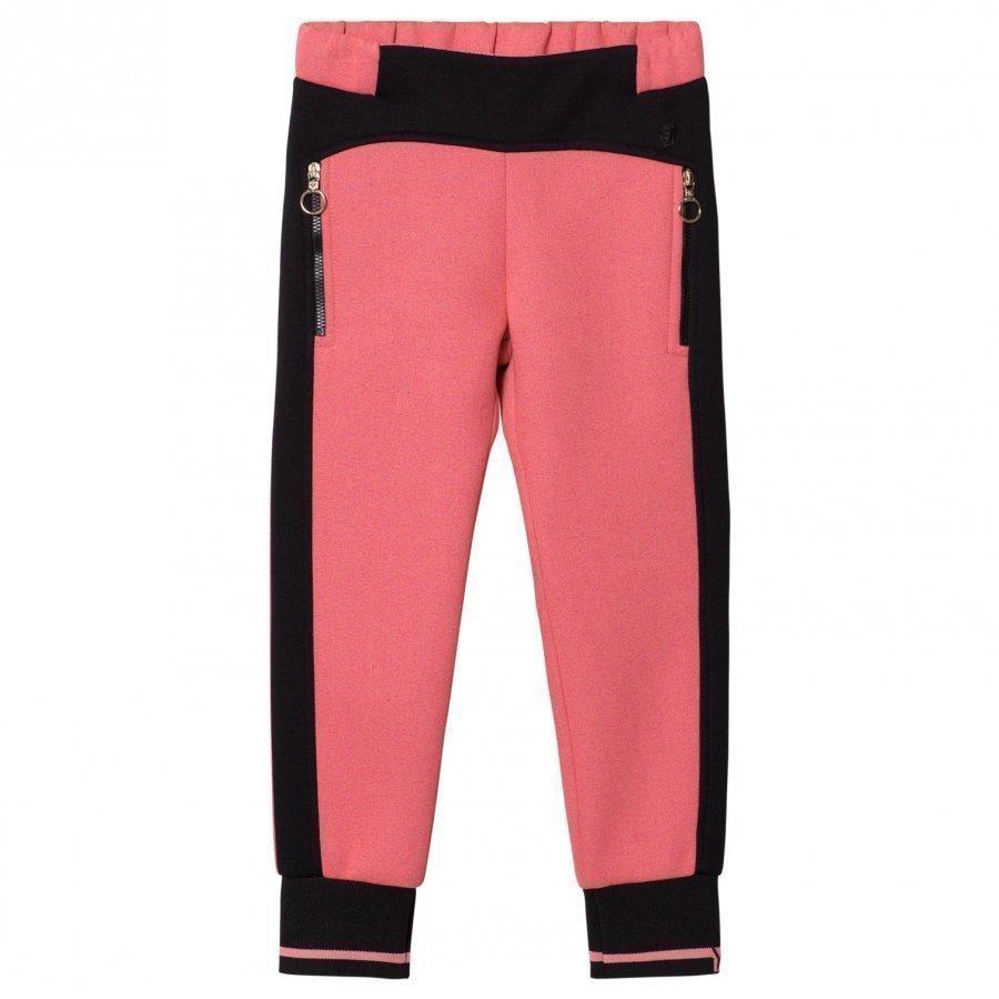 Young Versace Pink/Black Neoprene Track Pants Verryttelyhousut