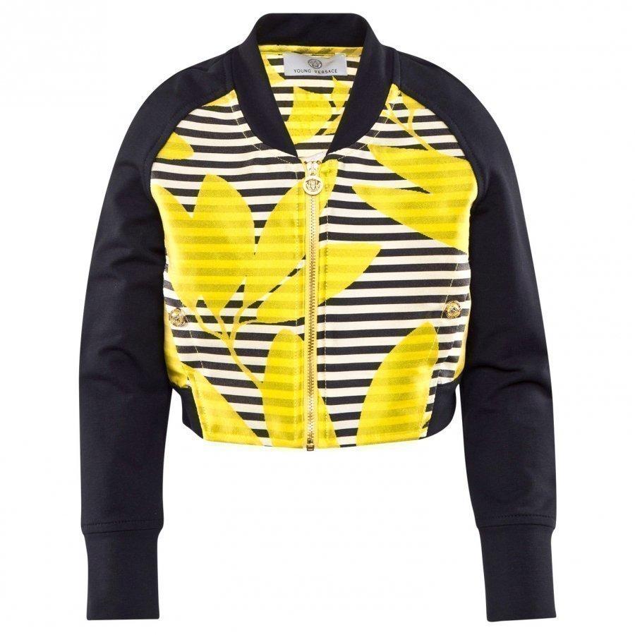Young Versace Takki Tummansininen/Keltainen Oloasun Paita