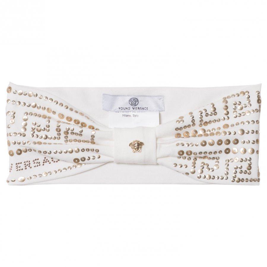 Young Versace White And Gold Palazzo Stud Headband Hiuspanta