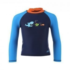 Zoggs Shark Fever Long Sleeve Top UV-uimapuku Sininen