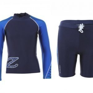 Zunblock Suntop Ls + Shorts Snake UV-uimapuku Sininen