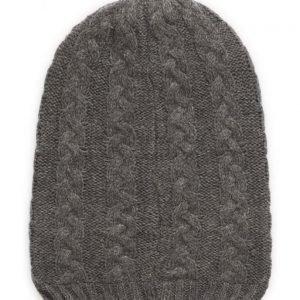 name it Nitmeflex K Knit Hat Grey Melan Fo 316